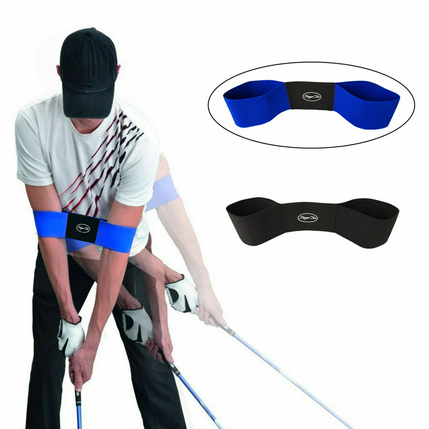 Golf Swing Training Aids Trainer Elastic Arm Band Belt Practice For Golf Beginners Posture Motion Correction Golf Accessories