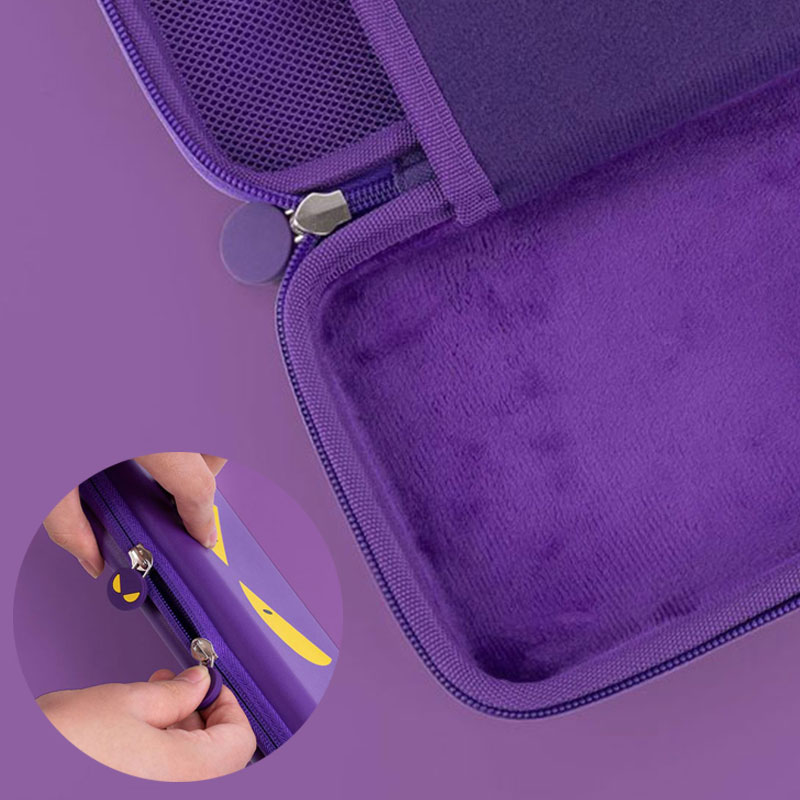 cheapest Nintend Switch Storage Bag Purple Devil Travel Case NS Hard Shell Cover Waterproof Box For Nintendo Switch Lite Game Accessories