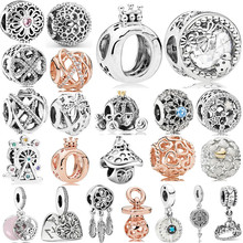 Fit Original Pandora Charms Bracelet Necklace Trinket Jewelry For Women Making New Hollow Mickey Life Tree Crown Bead