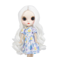 Wigs only!Blyth doll wigs high temperature fiber white brown green hair suitable for Blyth accessories 25cm 9-1
