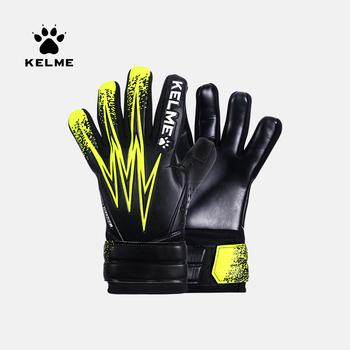 KELME Kids Men bramkarz piłkarskie rękawice bramkarskie zagęścić pełne lateksowe pianki szkolenie zawodowe rękawice bramkarskie 5 Finger Save Guard tanie i dobre opinie CN (pochodzenie) Polyester 9698408