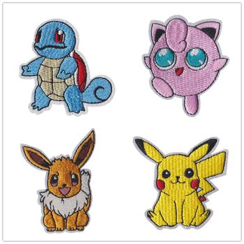 Nowy Pokemon Cloth Patch Pikachu naszywki na ubrania szyć na haft aplikacja żelazko na odzież Cartoon do ubrania DIY dekoracji tanie i dobre opinie TAKARA TOMY lalki 25-36m 4-6y 7-12y CN (pochodzenie)