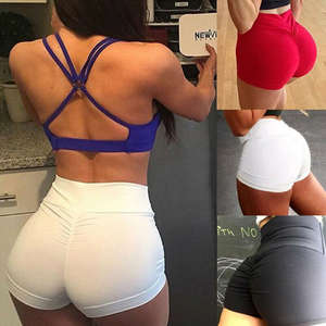 Sport-Shorts Fitness Sexy Stretchy High-Waist Running Summer Women Lady Skinny-Fit Casual
