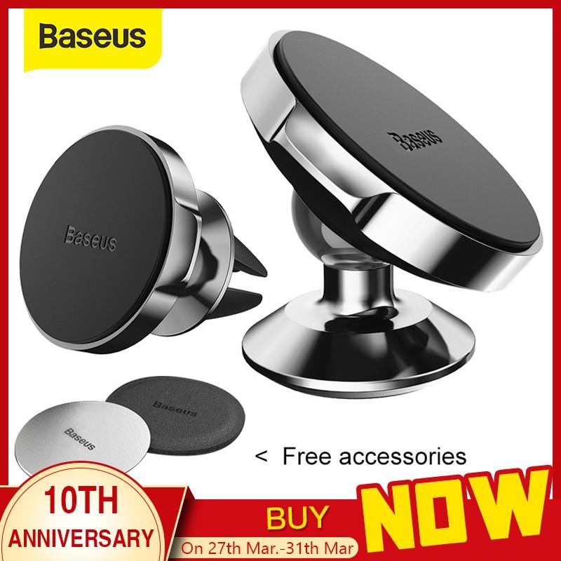 Baseus Magnetic Car Holder For Phone Universal Holder Cell Mobile Phone Holder Stand For Car Air Vent Mount GPS Car Phone Holder