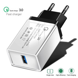 Image 1 - USB Phone Charger Quick Charge 3.0 2.0 EU/US Plug Travel Wall Fast Charging Adapter For Samsung HTC Tablets Mobile Phone Charger