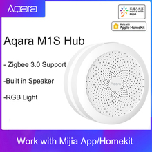 2021 Aqara M1S Hub Gateway con RGB LED Night Light Zigbee 3.0 APP telecomando Smart Home Work con Mijia APP Apple HomeKit