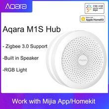 2021 aqara m1s концентратор шлюз с цветовой моделью rgb светодиодный