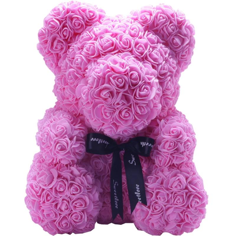 25cm And 40cm Valentine's Day Gift Wedding Decoration PE Foam Rose Teddy Bear