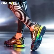 Onemix tênis tênis de corrida dos homens respirável malha esporte chaussures de curso ao ar livre atlético tênis caminhada max 47