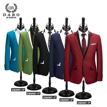 DARO Men Suit Wedding Groom Party Blazer New Style Slim Fit Jacket pant 2 Piece Black Blue Wine Green Tuxedo Dress Tailored