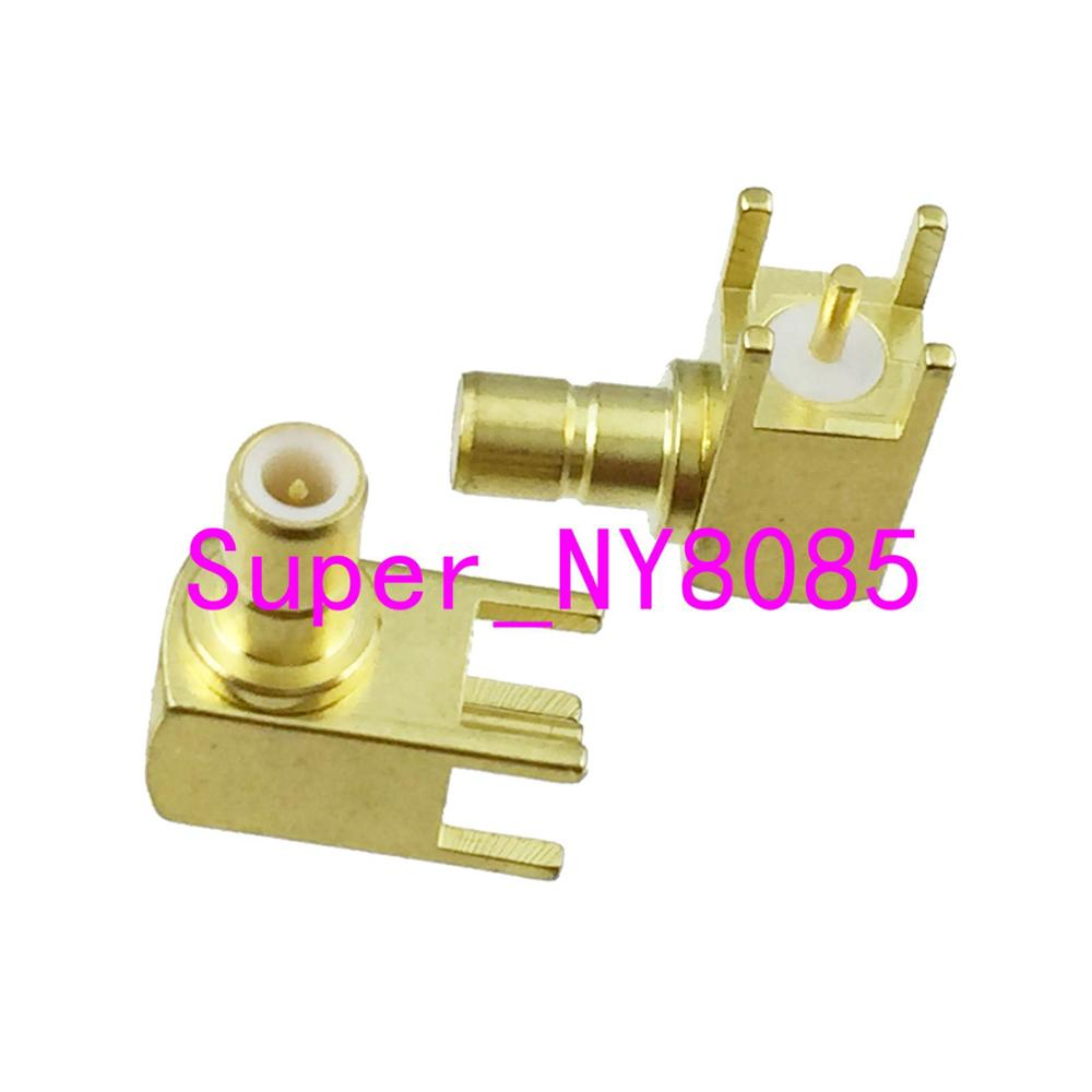 Connector SMB Male Plug Right Angle Solder PCB Mount RF COAXIAL