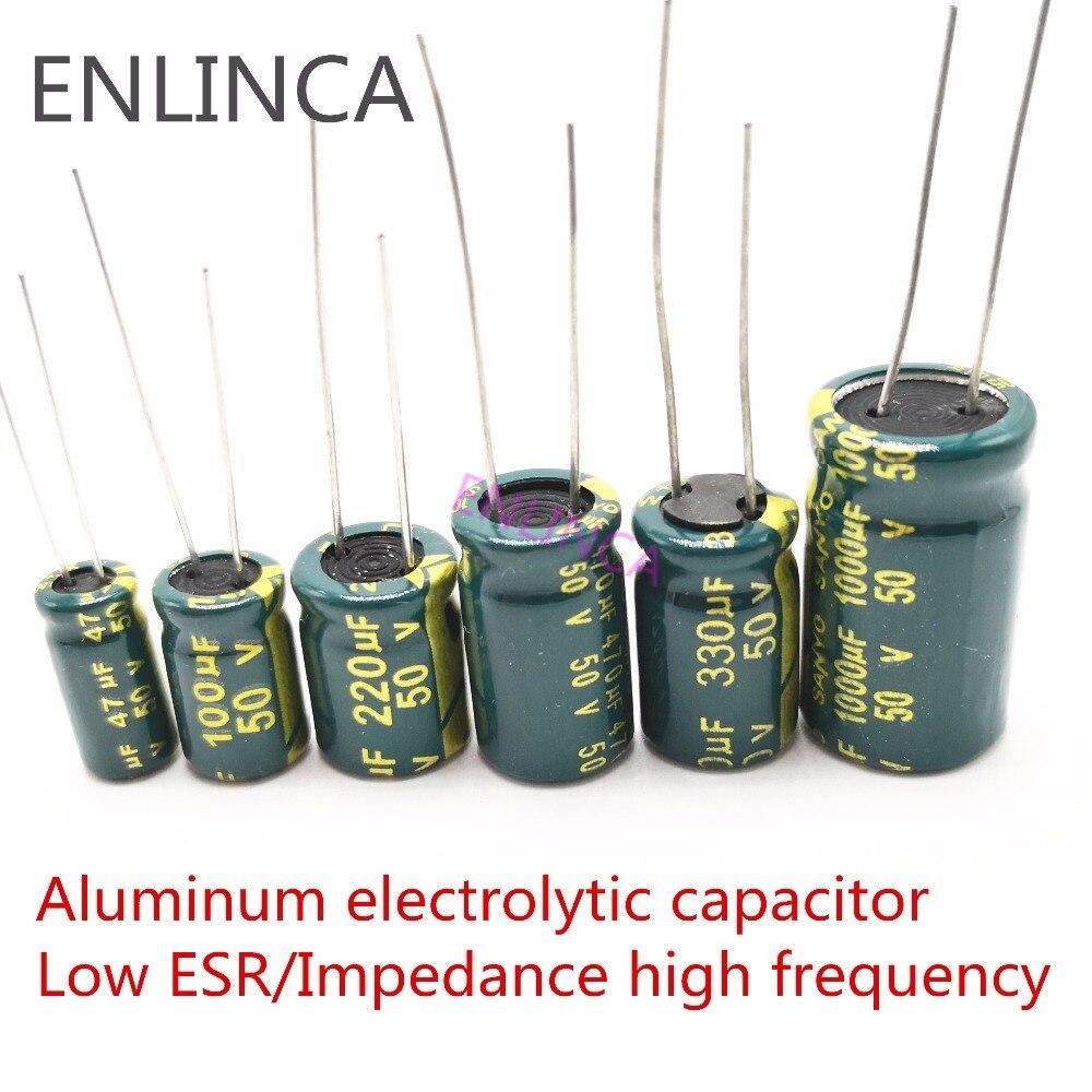 20-500 шт., электролитическая емкость 6,3 в 10 в 16 в 25 в 35 в 50 в 63 в 250 мкФ 400 в 2,2 мкФ 4,7 мкФ 6,8 мкФ 33 мкФ 47 мкФ 100ufhigh