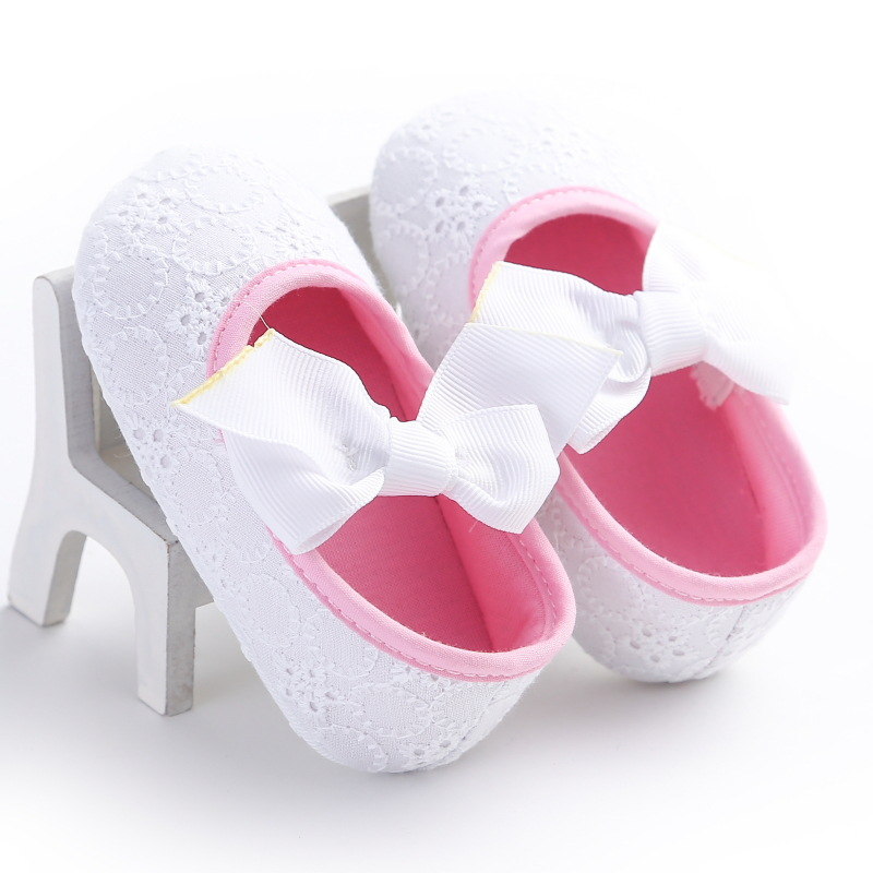 Baby Girls Lace Flower Shoes 0-2Y Infant Soft Princess First Walkers Spring Summer Newborn Toddler Prewalkers Casual Sneakers