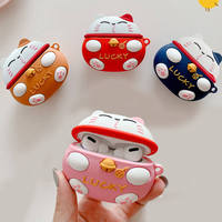 Funda para AirPods Pro 3D con dibujos Kawaii gato de la suerte, funda para auriculares inalámbricos para Apple Airpods 3, caja de carga de Año Nuevo Chino