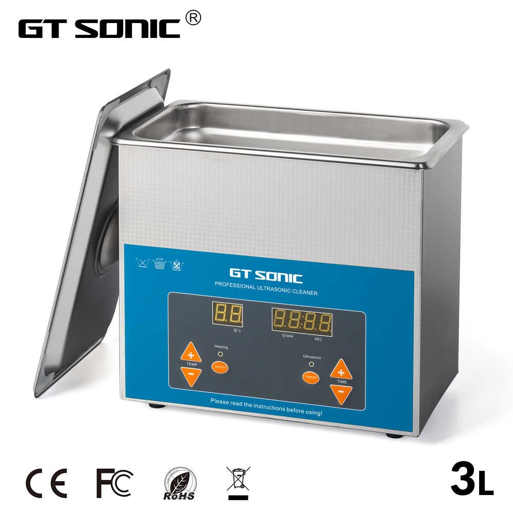 Gt Sonic 3L Digitale Ultra Sonic Cleaner Bad Degas Ultrasound Cleaner Sonic Cleaner Onderdelen Motor Cutters Carb Ketting Pcb Wassen