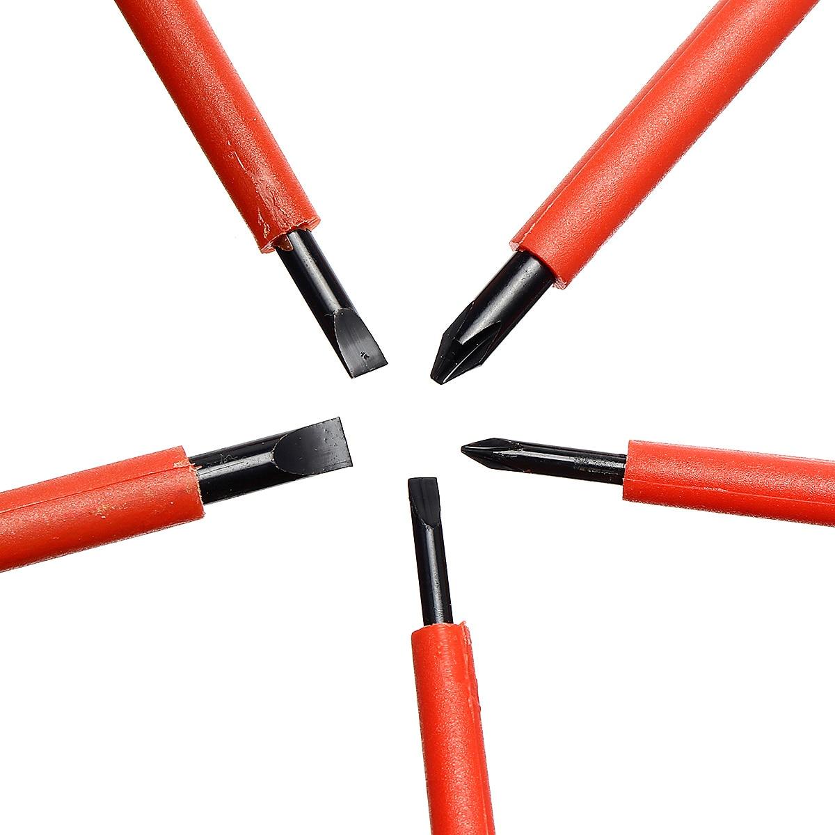 Praktyczny 6 sztuk w zestawie Zestaw wkrętaków dla elektryków VDA - Narzędzia ręczne - Zdjęcie 5