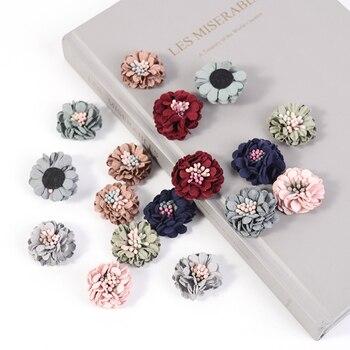 10pcs/lot 3cm  Silk Rose Flower head Artificial Wedding Party Home Decor DIY Wreath Scrapbook Gift Box Craft Fake