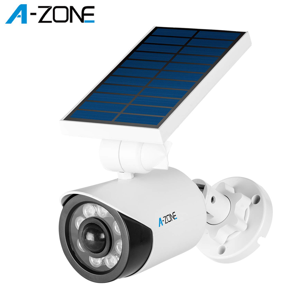 A-ZONE 2PACK LED Motion Sensor Lights Dummy Fake Camera Outdoor Garden Wall Lamp