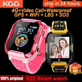 K22 4G GPS Smart Watch Kids IP68 waterproof Wifi Video call Alarm Clock Camera Baby kids smart Watch Phone Children Smartwatch