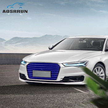 Front grille modified water tank protection net engine protection insect net Car Accessories For audi A6 C8 2019 2020