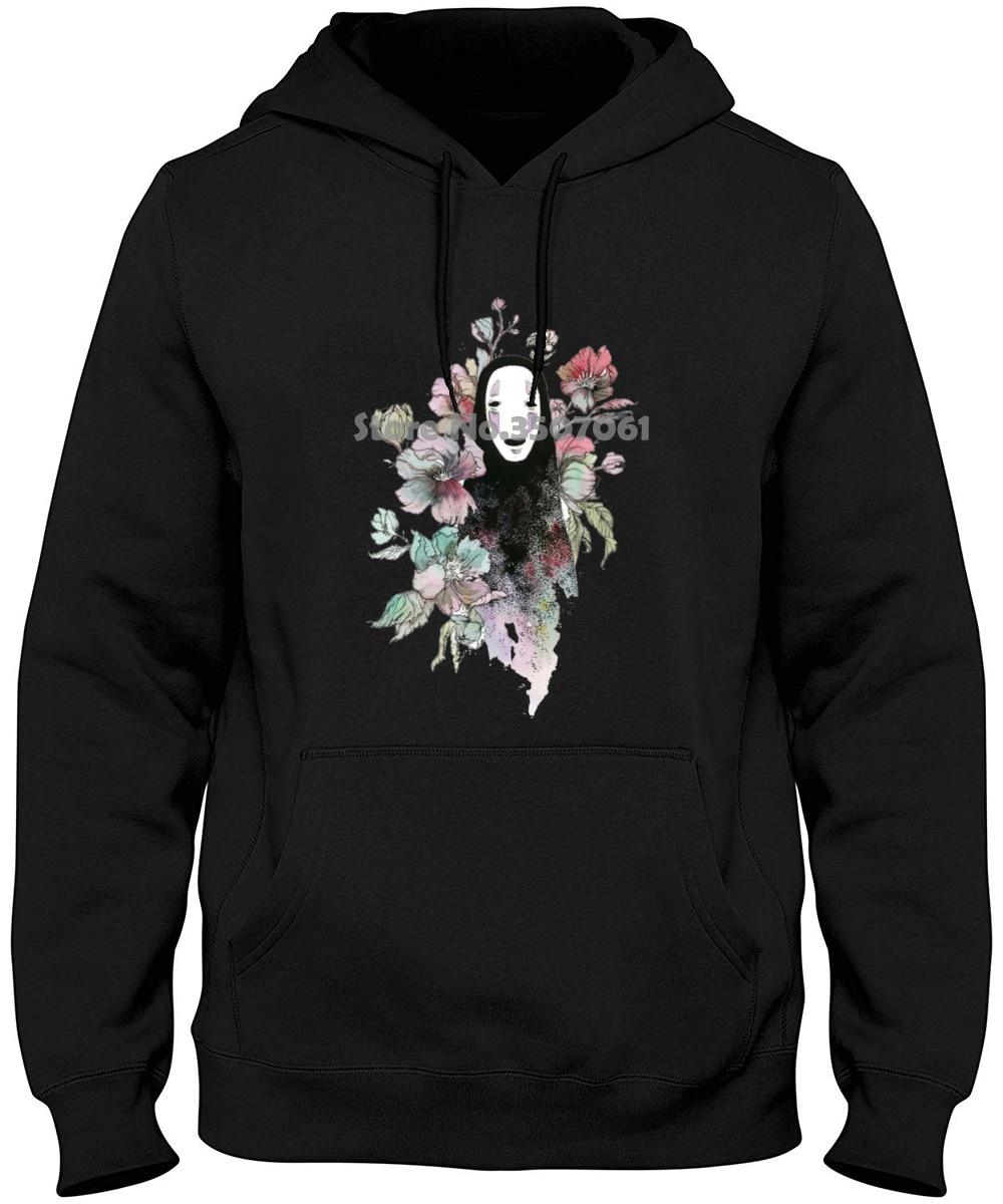 Top Fashion 100% Cotton Slim Fit Top Spirited Away Faceless Anime Studio GhibliMen's All Sizes Fashion Hoodies & Sweatshirts