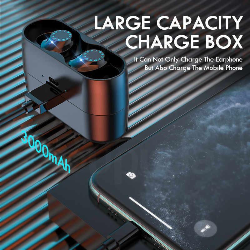 Беспроводные наушники IPX7 водонепроницаемые с сенсорным управлением 8D TWS Bluetooth 5,0 стерео наушники спортивные наушники гарнитуры с микрофоном