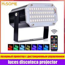 Stroboskopowe światło sceniczne Disco Bar impreza muzyczna 48 RGB pilot Mini światło sceniczne s festiwal blask zaopatrzenie firm oświetlenie karnawałowe