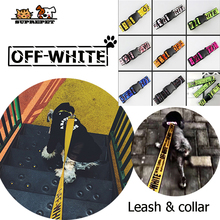 SUPREPET Dog Collar Leash Fashion Pet Vest Nylon Puppy Rope Dogs for Cat Off White