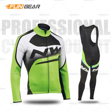 купить Pro Team Cycling Jersey Set Long Sleeve clothes Autumn MTB Bicycle Clothing Outdoor Breathable Racing Bike Sportswear Quick Dry дешево
