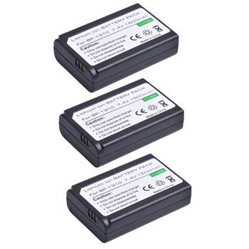 Tectra 3pc BP-1310 BP1310 BP 1310 aparat litowo-jonowy do Samsung NX11 NX20 NX5 NX10 NX100 bateria aparatu tanie i dobre opinie Kamera Standardowa bateria 7 4V 1310mAh LCD USB charger with cable