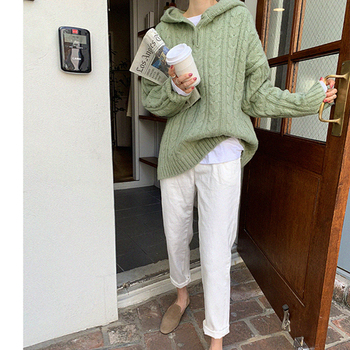 New Female Sweater Women Winter Pullover Knitting Overszie Long Sleeve Girls Tops Loose Sweaters Knitted Outerwear Thin Sexy spring summer loose women pullover sweater hollow out sexy lace knitted plaid top long sleeve thin female pullover and sweater