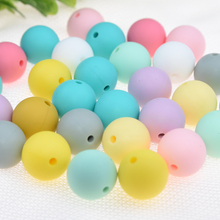 Happyfriends 30pcs 15mm Free Shipping Infant Baby Silicone Teething Beads Accessories Pacifier Necklace Jewelry Teethers