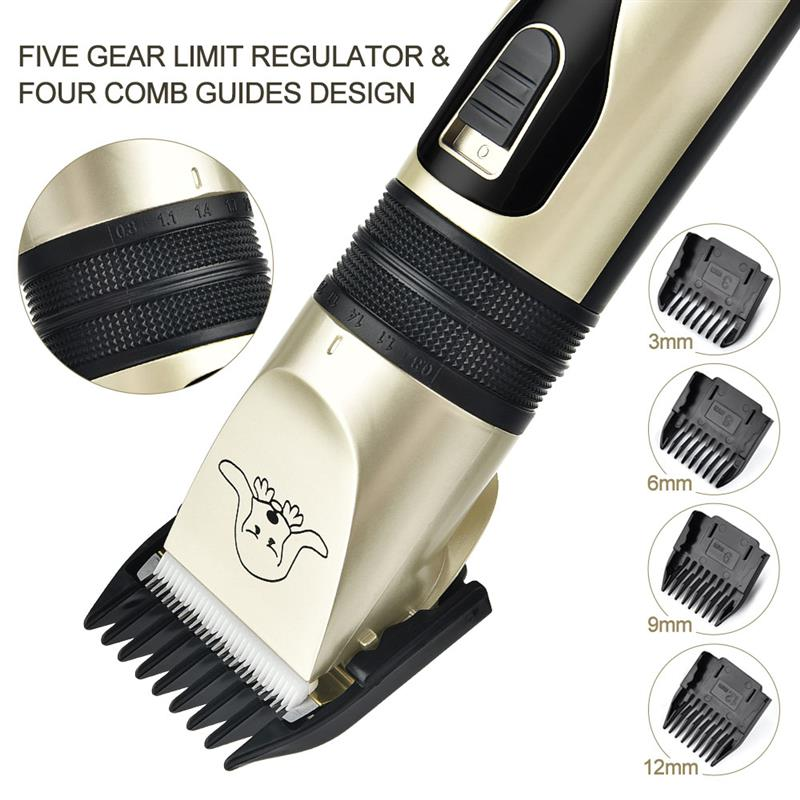 USB Electric Pet Hair Clipper Remover Professional Pet Cat Hair Trimmer Cutter Grooming Pets Haircut Machine 4