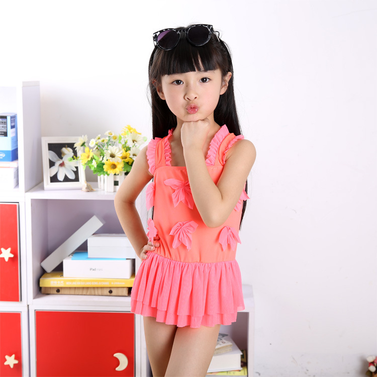 Children Cute Princess GIRL'S Bikini Infant Baby Medium And Small Girls One-piece Hot Springs Bathing Suit Performance Wear