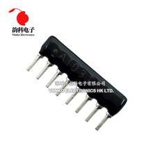 20pcs DIP exclusão Resistor Rede matriz 1 47 8pin 100 220 300 330 470 510 K 1.5K 2.2K 4.7K 6.8K 47 33 22 20 10K K K K K 100K ohm
