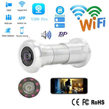 Door Eye Hole  Security 2mp HD  1.56mm Lens Wide Angle FishEye CCTV Network Mini Peephole Door WifI  Camera P2P TF Card