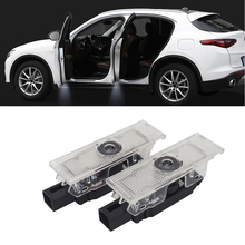 2Pcs New Logo Light For Alfa Romeo Stelvio Mito 159 147 156 GT Giulia Car Door Ghost Shadow