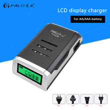 PALO LCD Display 4 Slots Smart Intelligent Battery Charger For AA / AAA Ni-CD Ni-MH Rechargeable Batteries