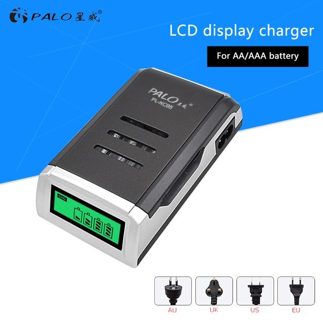 PALO LCD Display 4 Slots Smart Intelligente AA Batterie Ladegerät Für 1,2 V AA / AAA Ni CD Ni Mh akkus