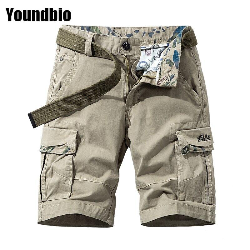 2021 летние модные шорты в стиле сафари из чистого хлопка, Походные штаны, прочные классические высококачественные свободные шорты большого ...