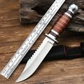 Тактический прямой нож спецназа, походный нож с деревянной ручкой для выживания в дикой природе, охотничий