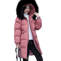 Maternity Clothes Plus size down Feather Cotton padded Clothes 2019 Winter New Style Fur Collar Hooded Thick Long Pregnant WOMEN