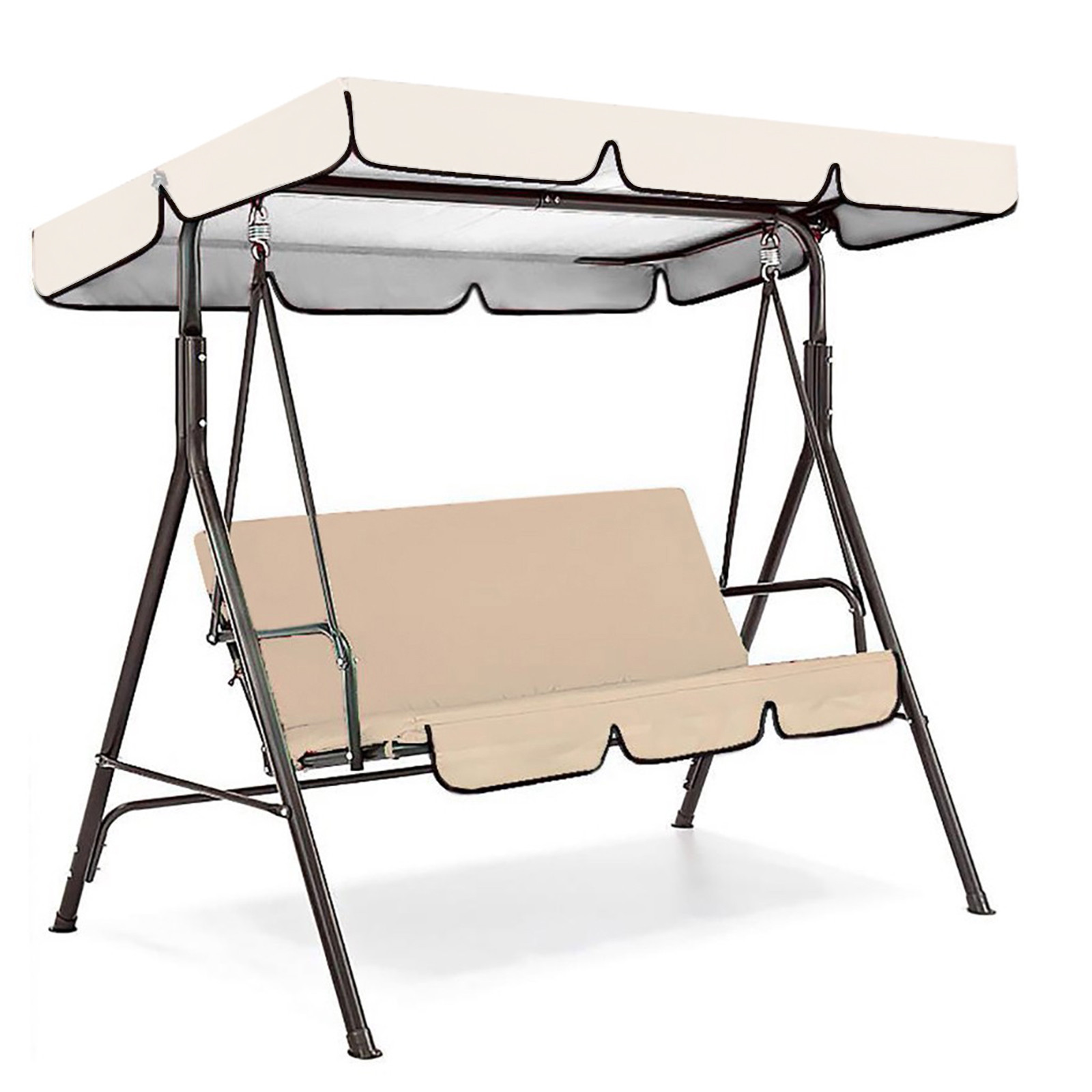 6 Seat Swing Canopies Seat Cushion Cover Set Patio Swing Chair Hammock Replacement Waterproof Garden 2021 New Hot Sale