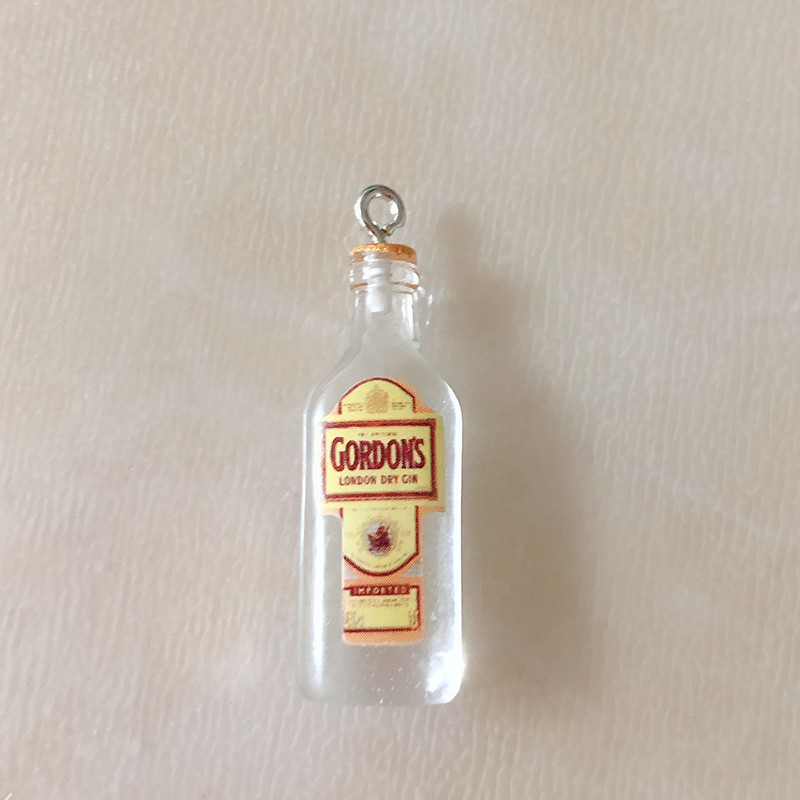10pcs/pack 3D GIN Beer Resin Charms Earring Keychain Necklace  Pendant Jewlery Findings Phone Case  DIY
