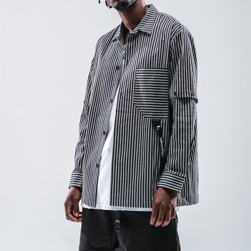 Cooo Coll Men Women Long Sleeve Shirts Hip Hop Stripe Loose Casual Swag  Kanye West Streetwear 19ss Fashion Tops Lapel Shirts