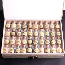 40 sztuk naturalny kryształ Rockstone żwir butelki z życzeniami szorstki próbki minerałów Mini kamień uzdrawianie Reiki prezent z pudełkiem