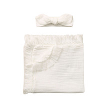 Newborn Solid Tassel Baby Swaddle Blanket Receiving Blanket Swaddle Wrap
