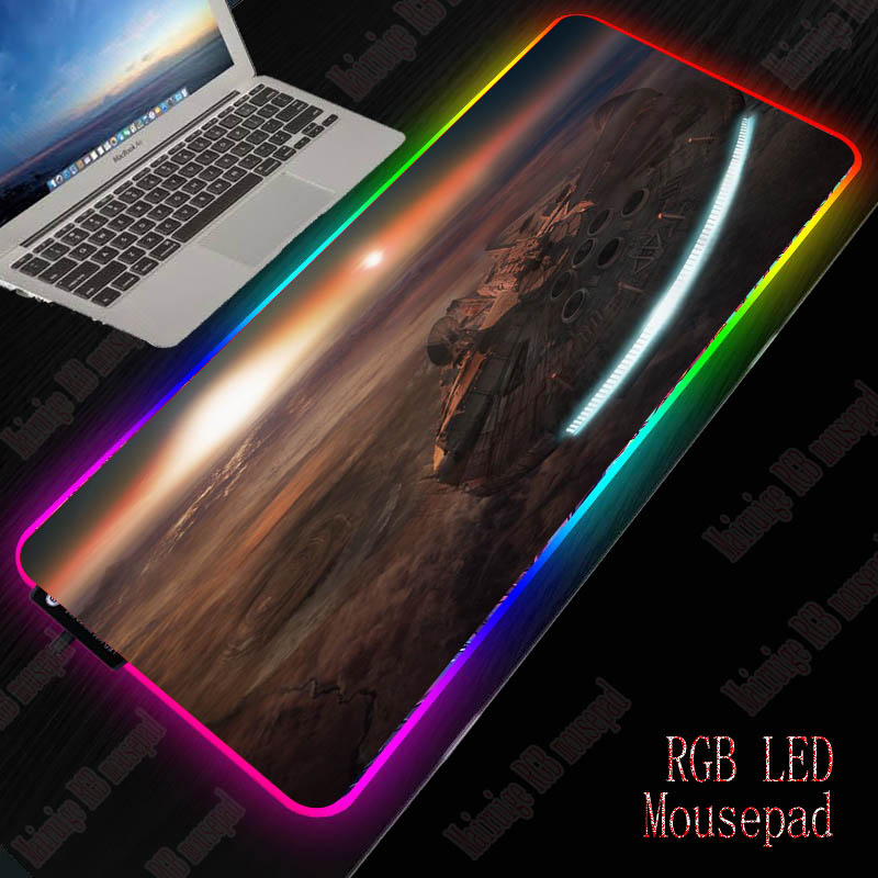 MRGBEST Space Star Wars Lock Edge Rubber Speed Gaming Mouse Pad for PC Laptop Computer Black Games Mousepad New Dropshipping image