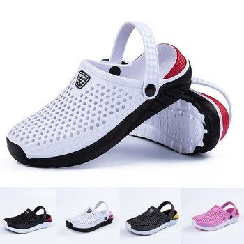 Unisex Fashion Beach Sandals Thick Sole Slipper Waterproof Anti-Slip Sandals Flip Flops for Women Men 1
