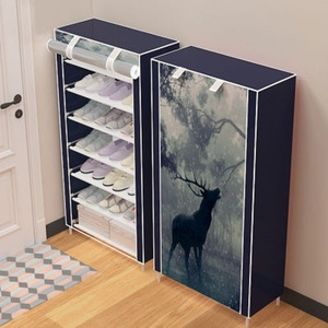Image 2 - แปดชั้นโมเดิร์น Minimalist Thicken ไม่ทอตู้เก็บรองเท้า DIY ASSEMBLY กันฝุ่นรองเท้า Organizer ชั้นวางของ